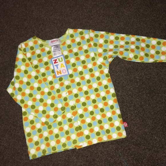 0bf276409 Zutano Shirts & Tops | 612 Mo Jacket Top Nwt Dot | Poshmark